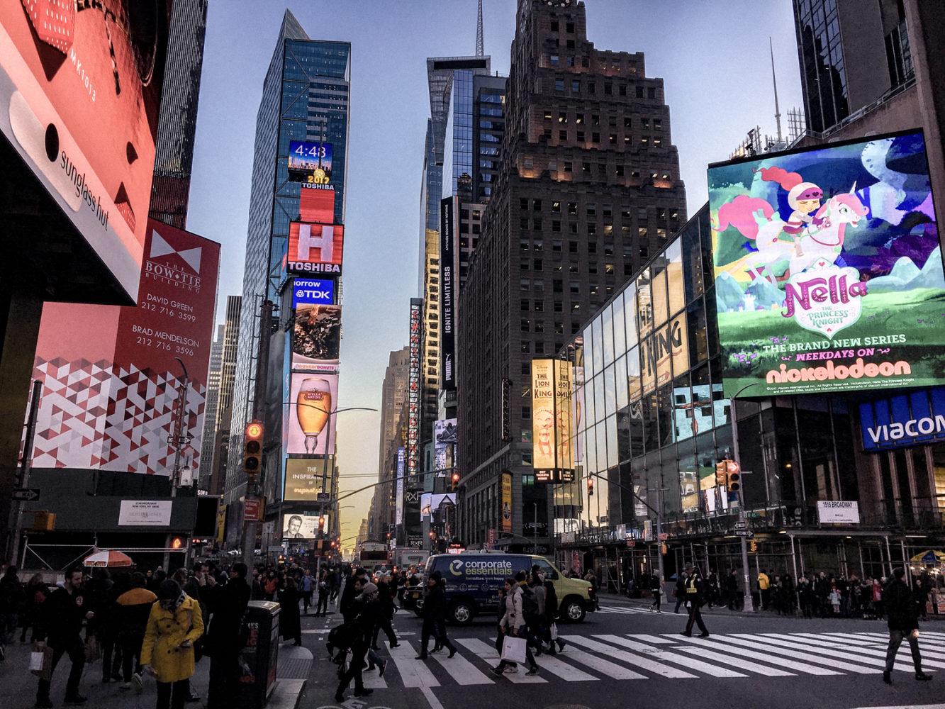 L'avenue principale de Times Square