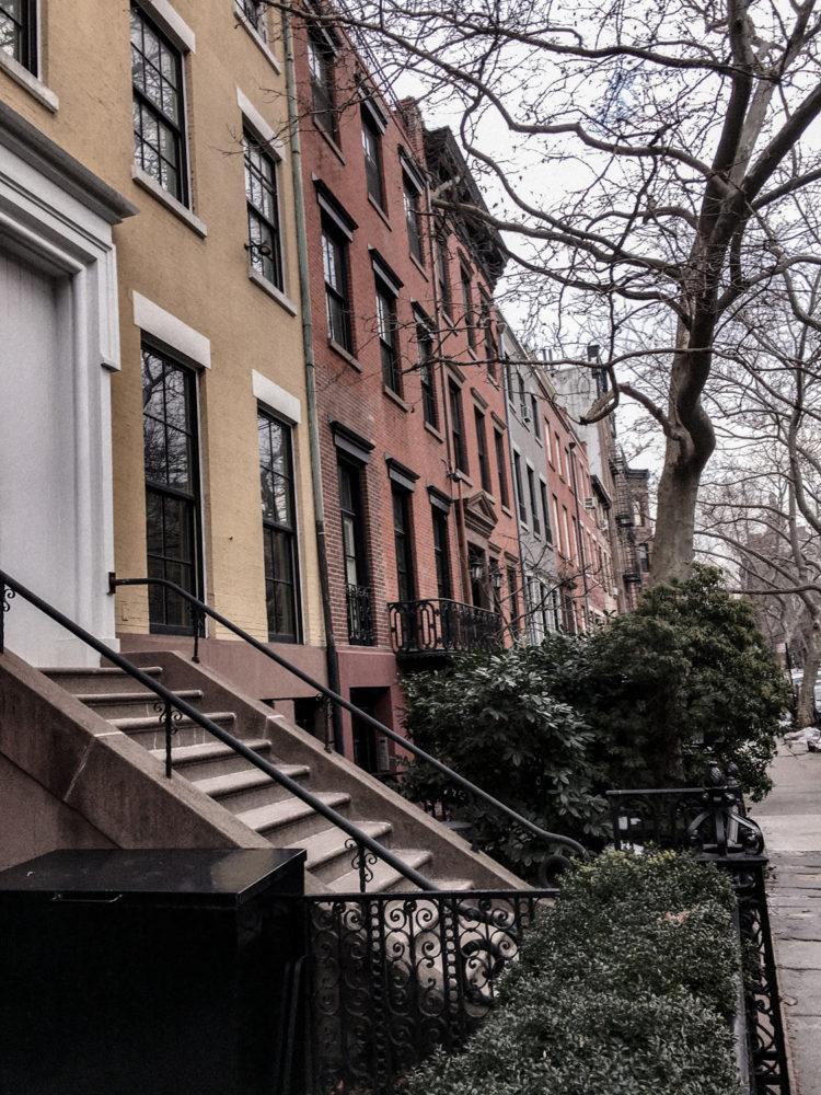 Les petites maisons colorées de Greenwich Village