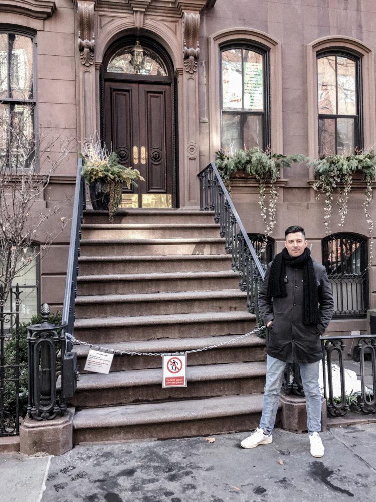 La façade de l'appartement de Carrie Bradshaw