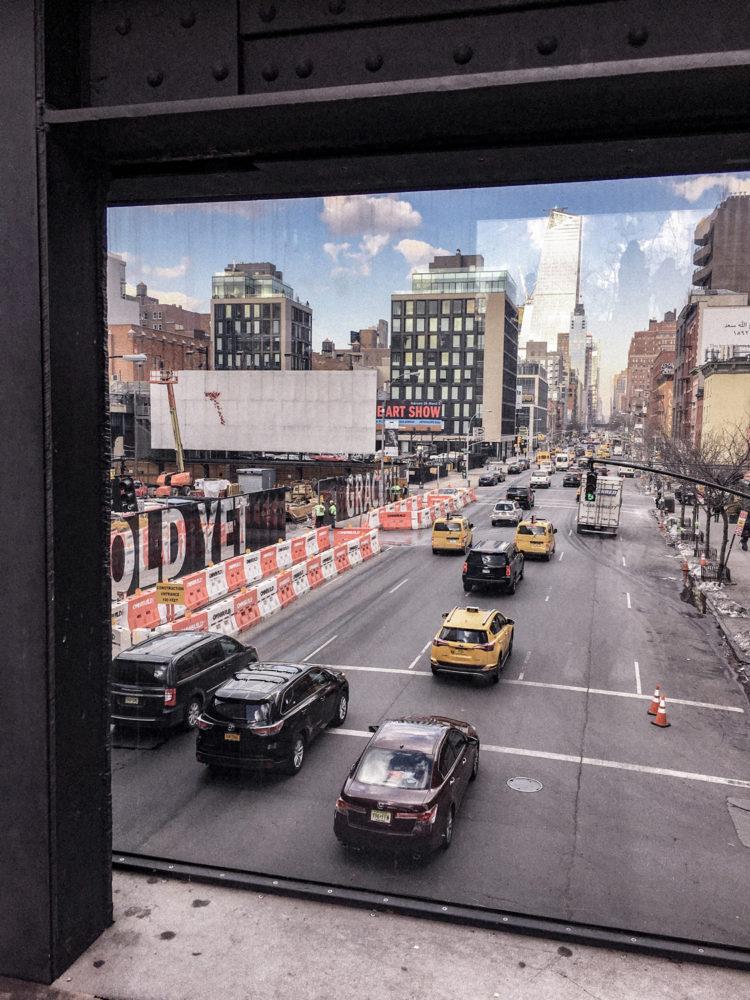 Vue sur une avenue depuis la High Line