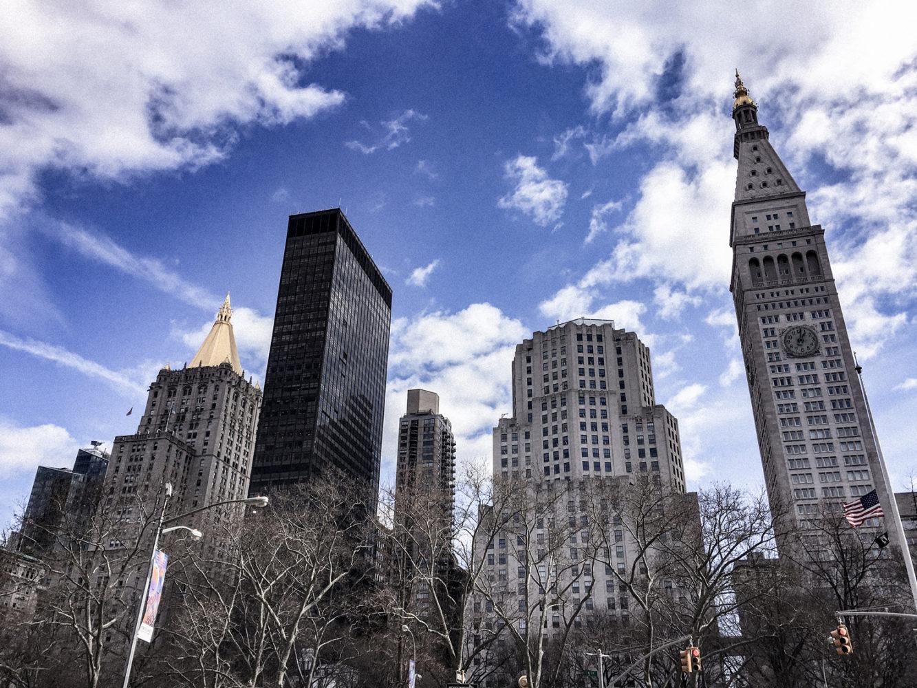 Vue des buildings depuis Madison Square Park