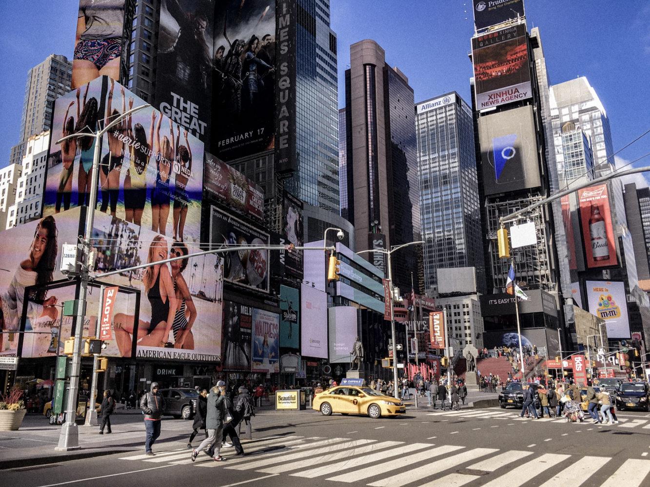 Times Square plus calme en plein jour