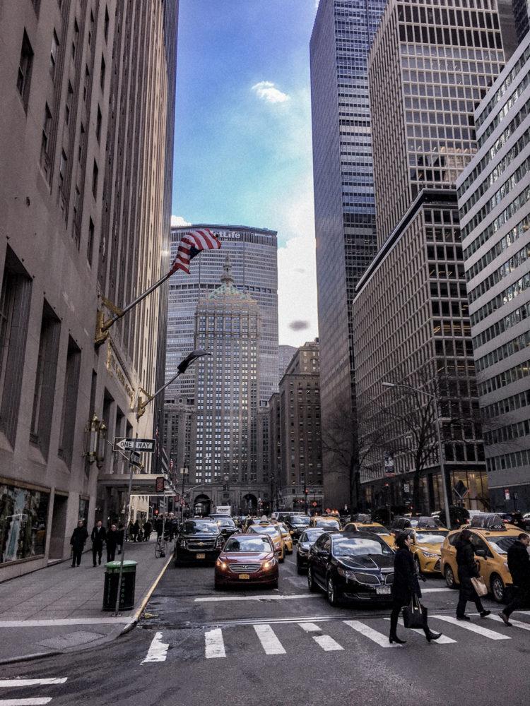Sortie de bureau pour les new-yorkais