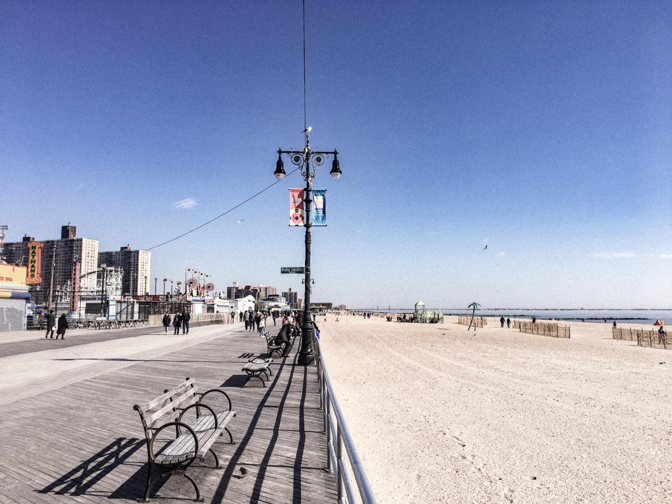 Balade le long de la plage de Coney Island