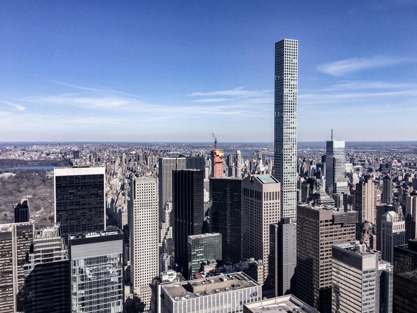 Vue sur le 432 Park Avenue : la plus haute tour résidentielle du monde