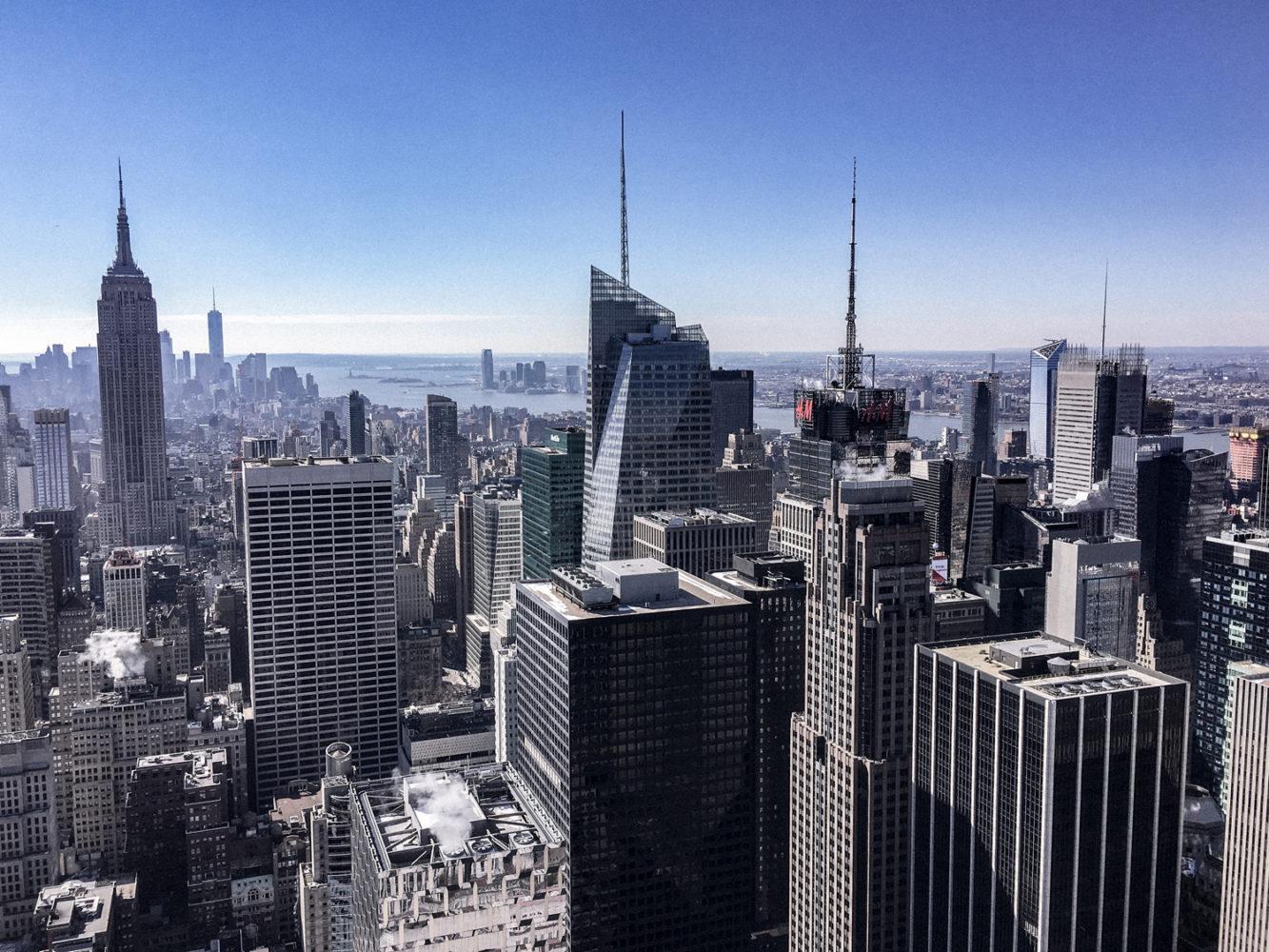 Très belle vue dégagée sur Manhattan