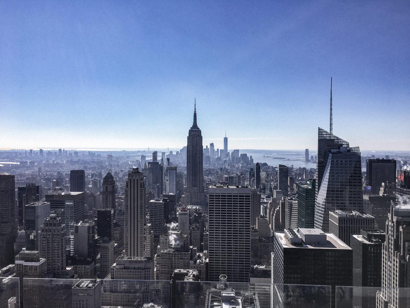 Magnifique point de vue sur l'Empire State Building
