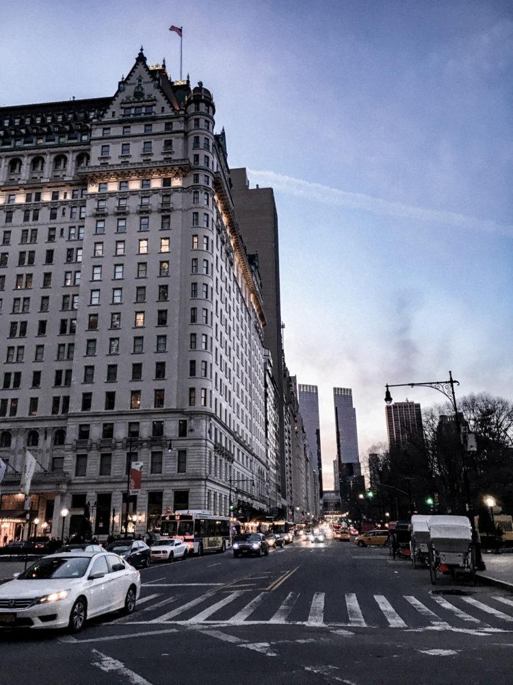 Tombée de la nuit sur Upper East Side
