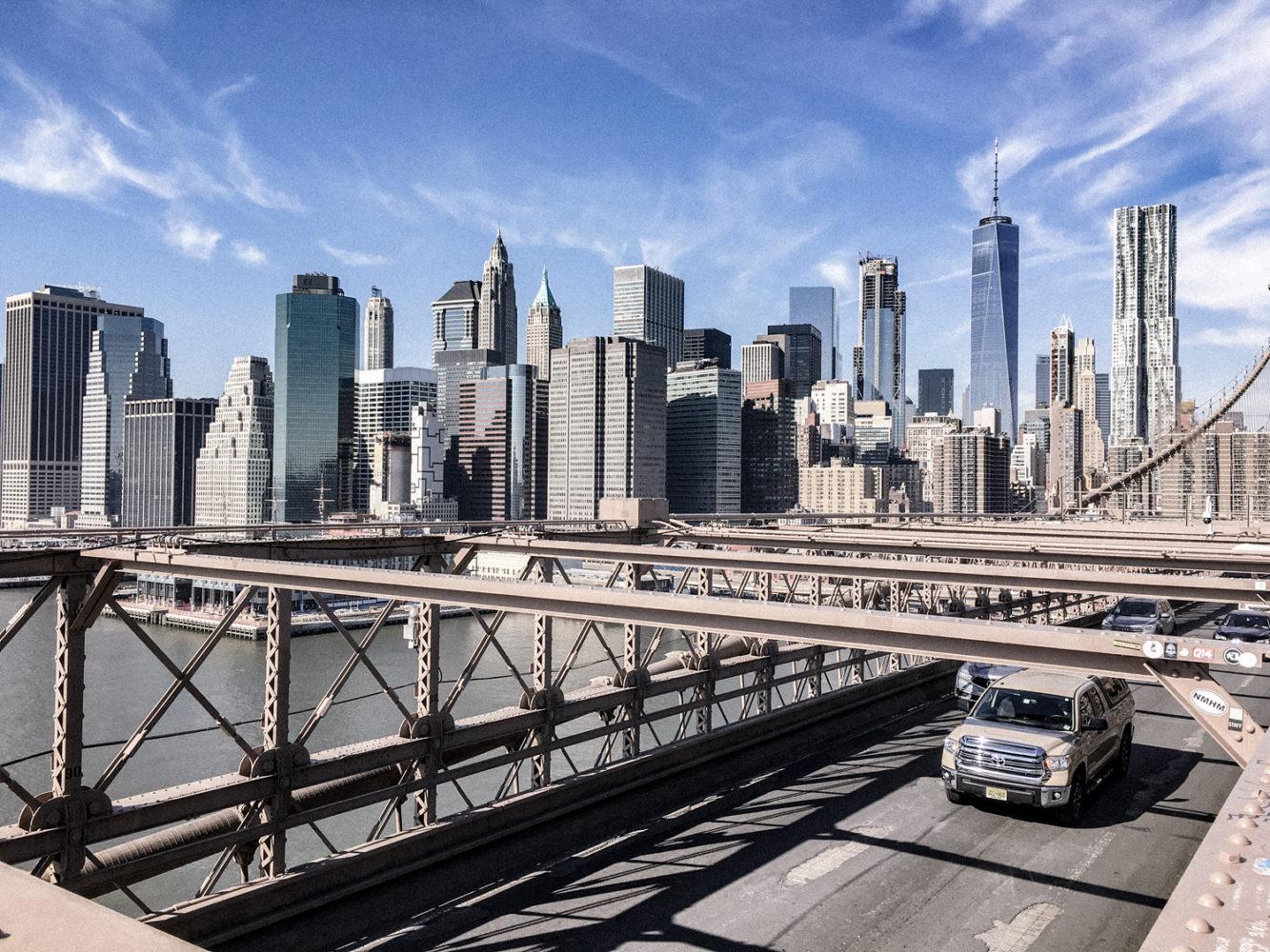 Vue imprenable sur les buildings de Manhattan