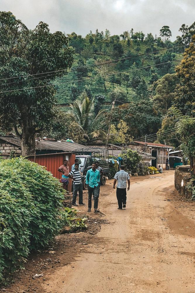 Les villageois ravis de voir des touristes