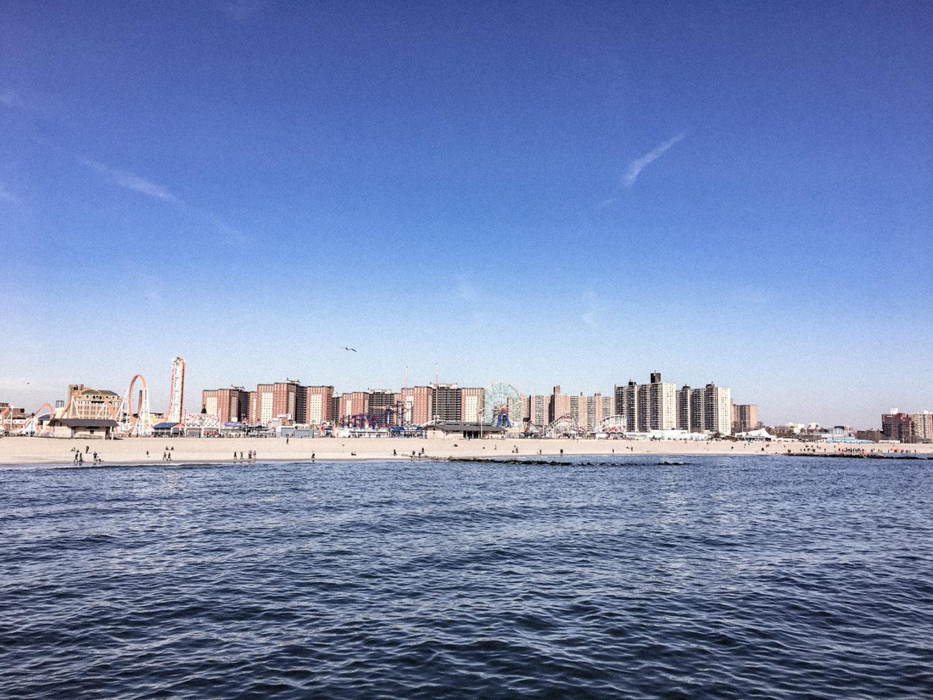 Panorama de la plage de Coney Island