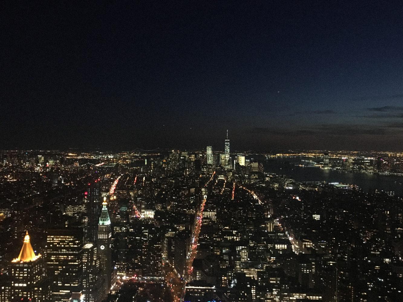 Les éclairages de Manhattan de nuit