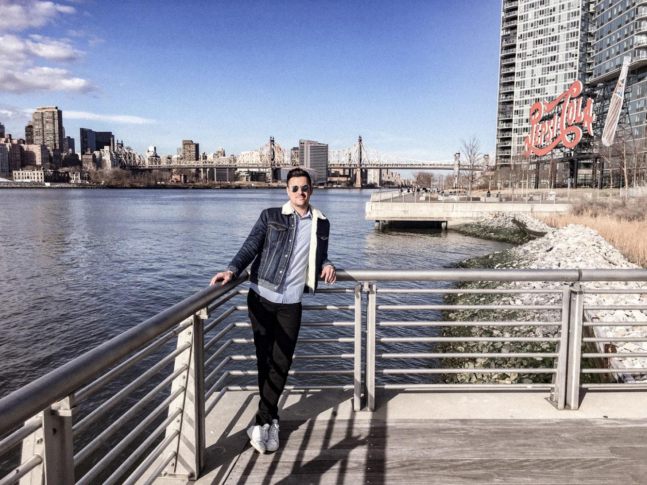 Séance photo avec le Queensboro Bridge au second plan