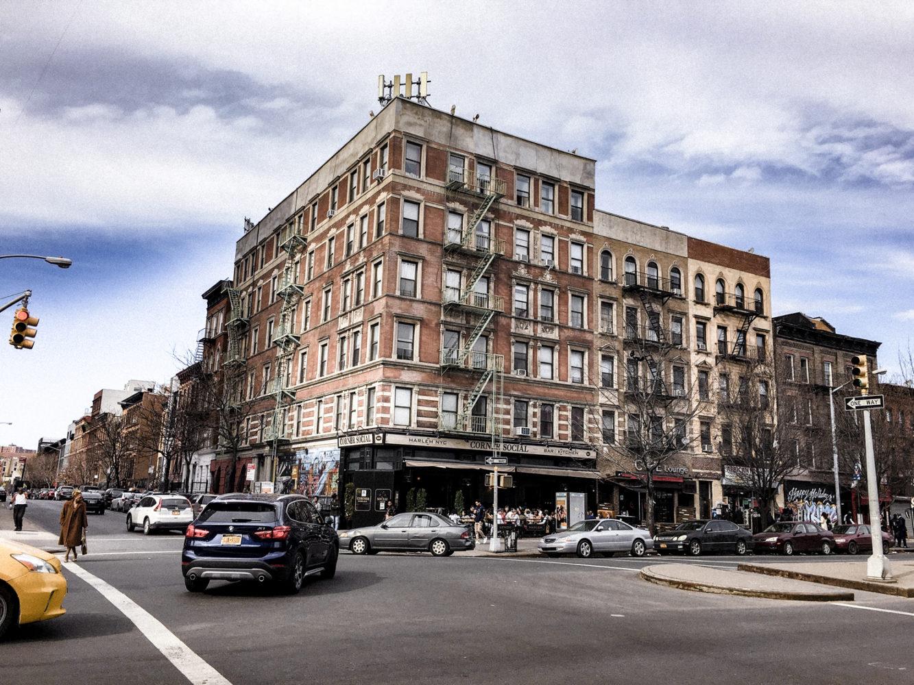 Quartier populaire et vivant d'Harlem