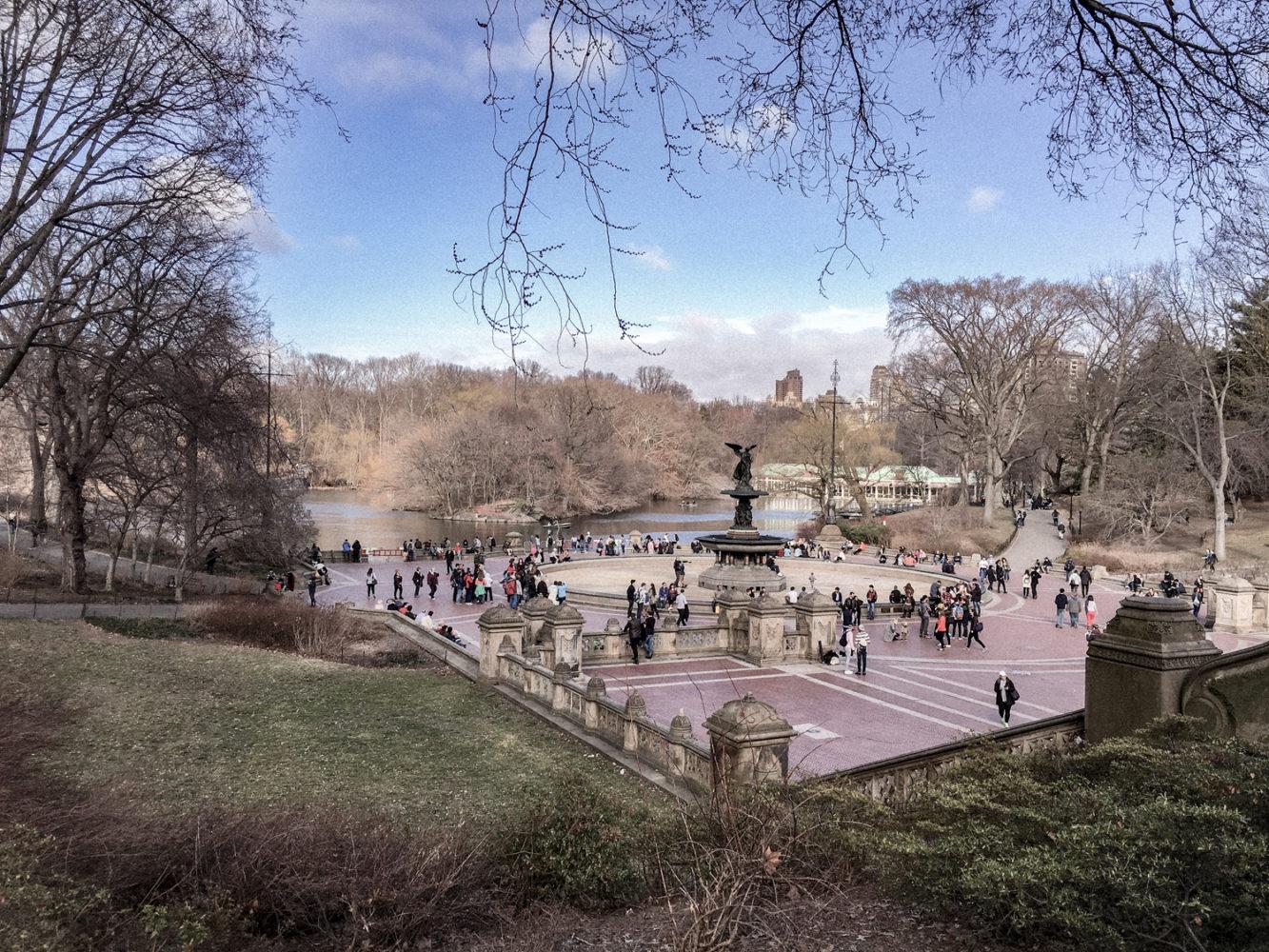 La fontaine Bethesda au centre du parc