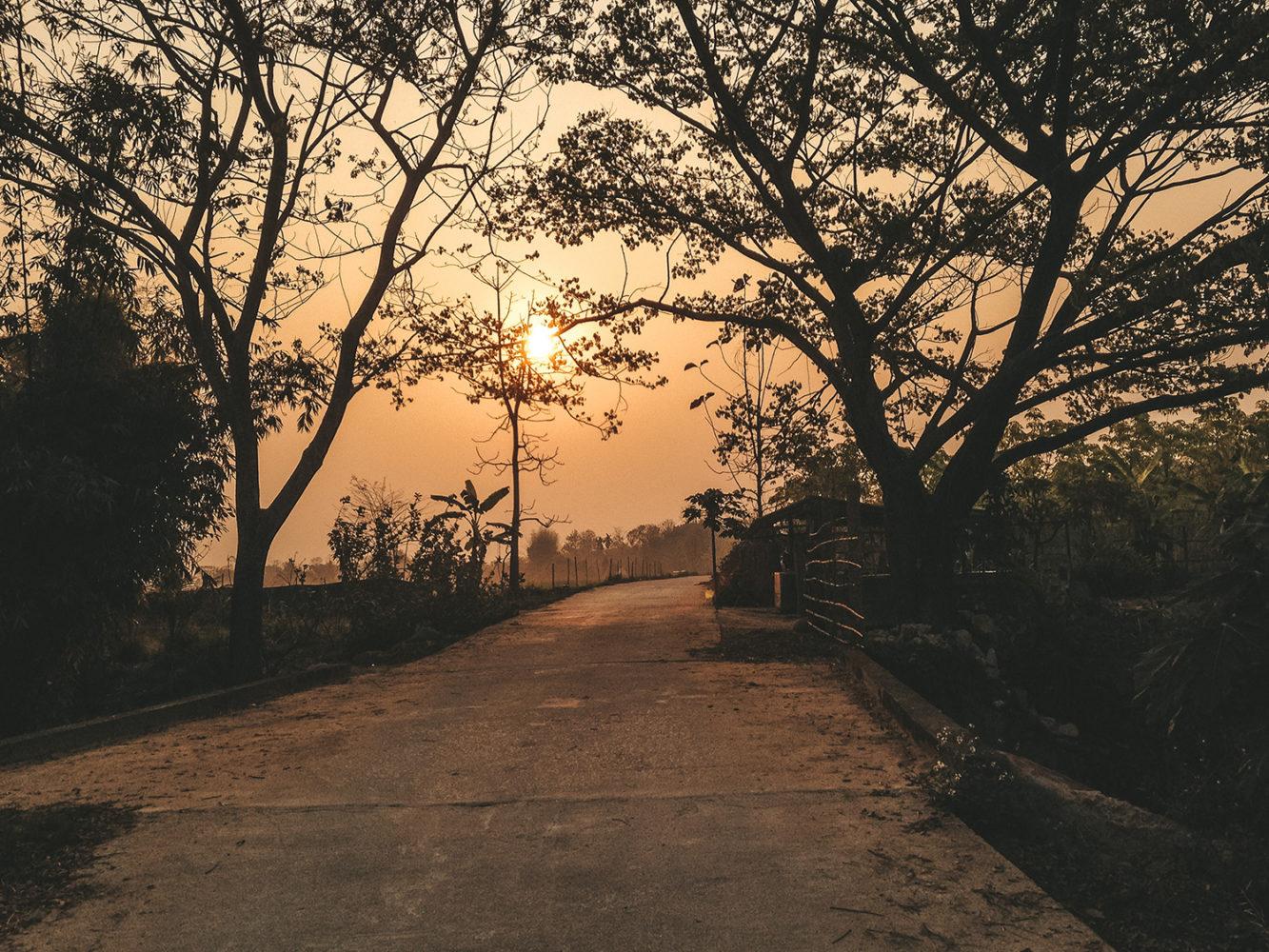 Lever du soleil sur Chiang Rai