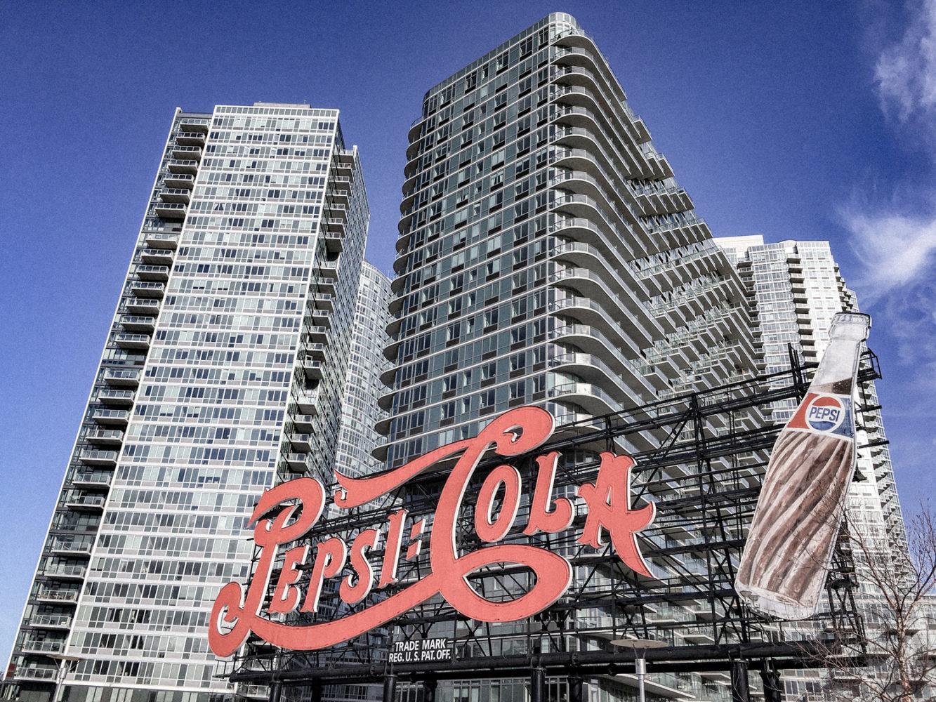Enseigne vintage de Pepsi Cola