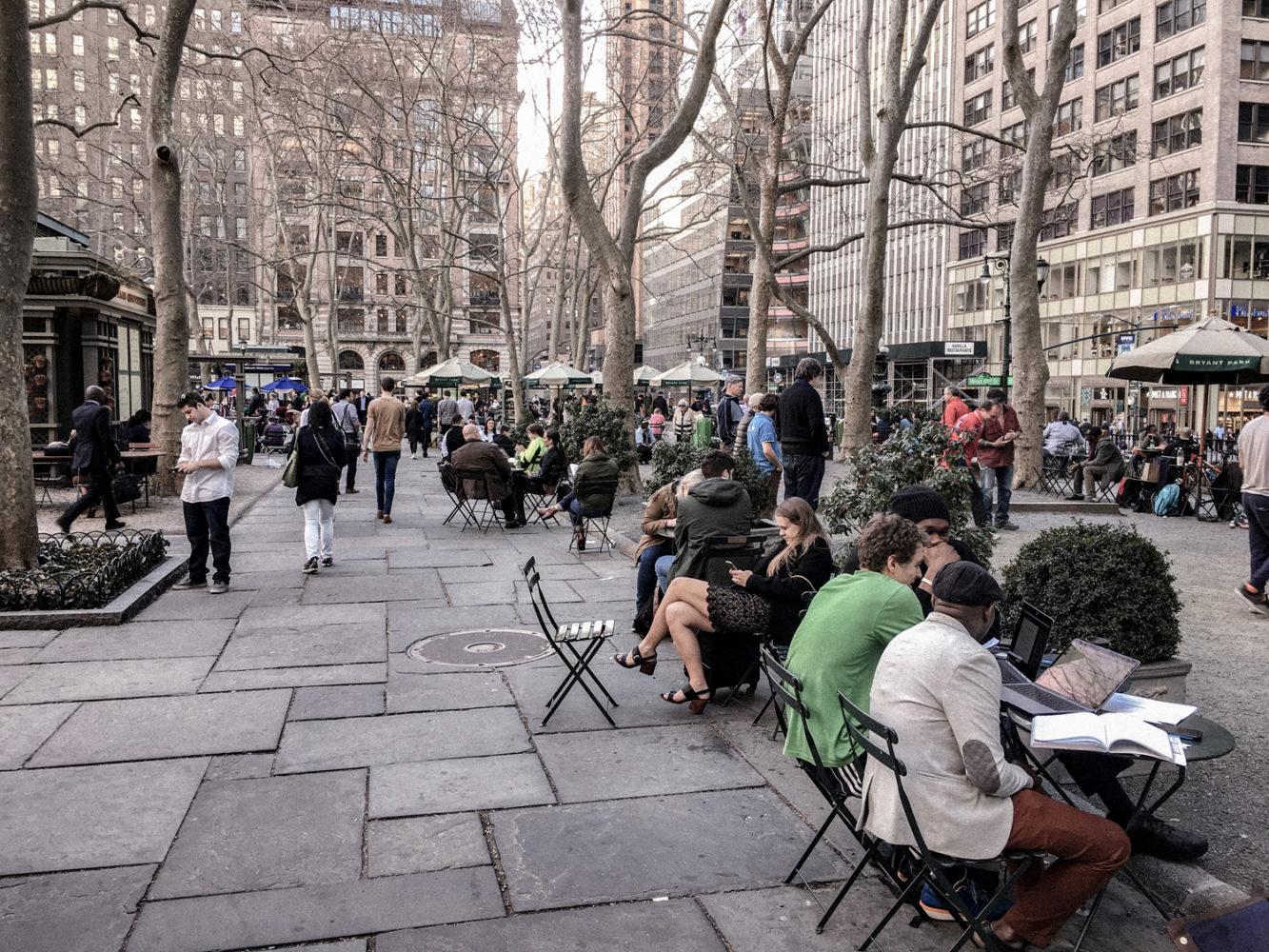L'heure de la pause des new-yorkais