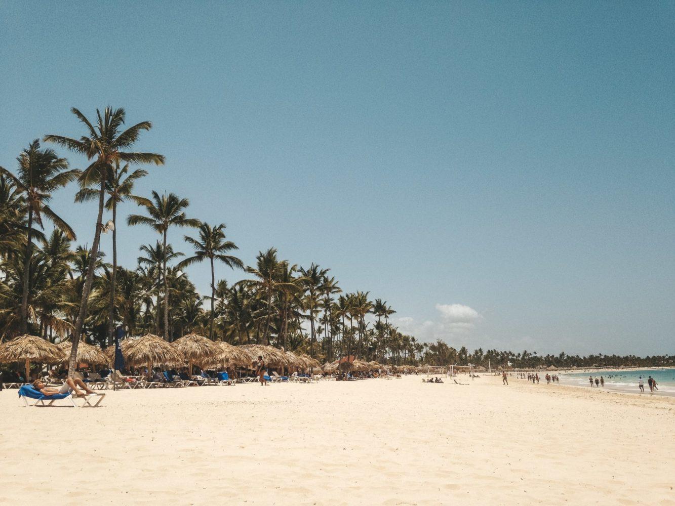 La plage de sable fin de Punta Cana