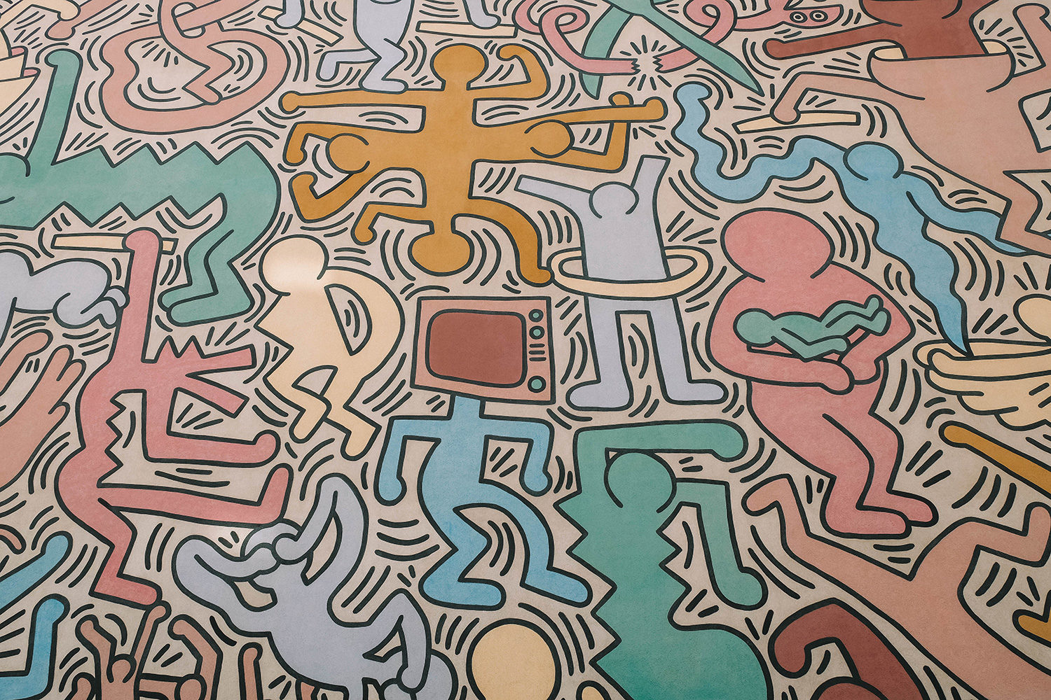 Fresque signée Keith Haring