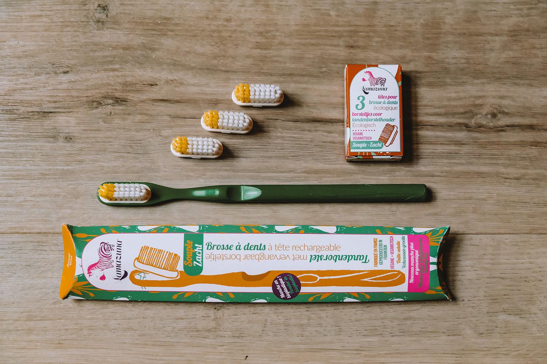 La brosse à dents Lamazuna et ses recharges