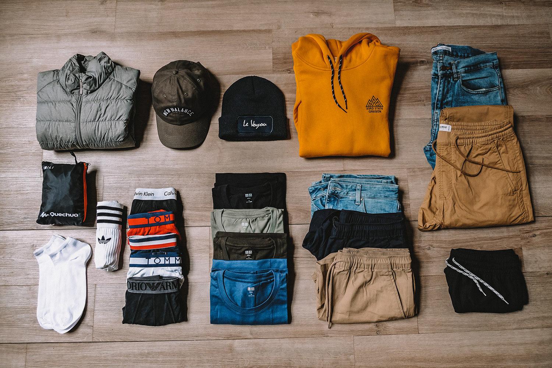 Nos vêtements pour 2 ans de tour du monde