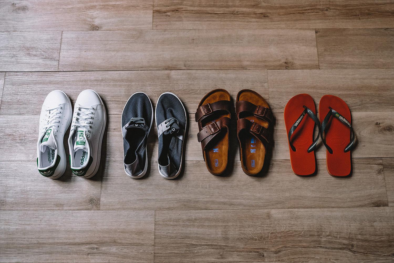 Nos paires de chaussures pour 2 ans de tour du monde