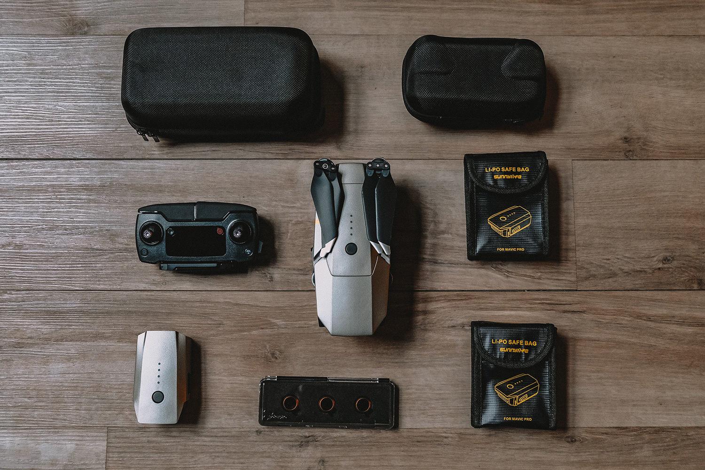 Notre drone et l'ensemble de ses accessoires