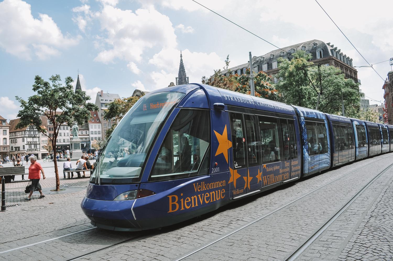 Le tramway de Strasbourg au coeur de la ville