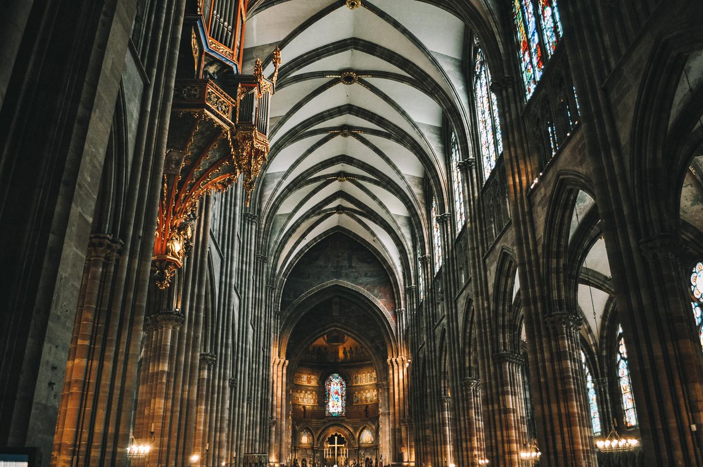 Intérieur de la cathédrale Notre-Dame de Strasbourg