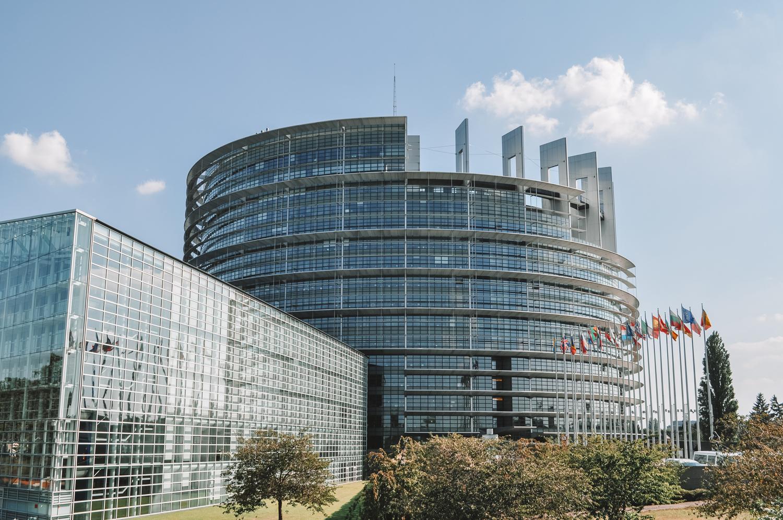 Fin de la balade en passant devant le Parlement européen