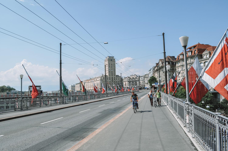 Direction à présent la nouvelle ville de Lausanne