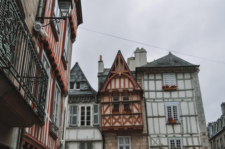 Des maisons à colombages dans le centre-ville