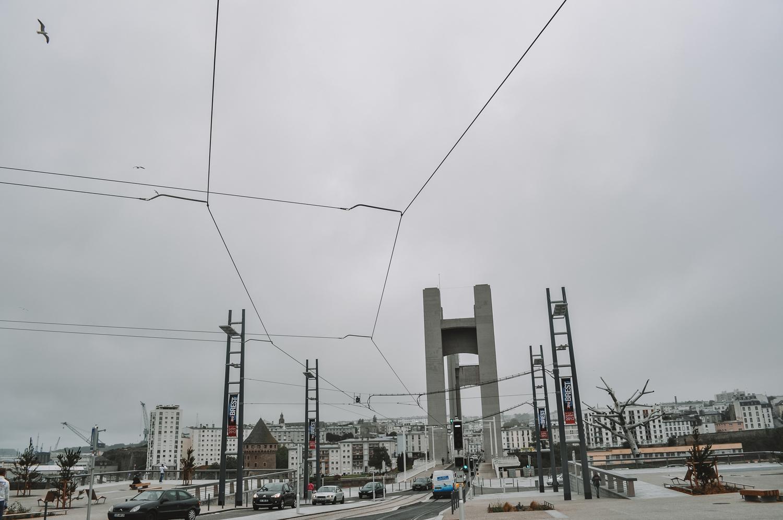 Arrivée à Brest sous la grisaille