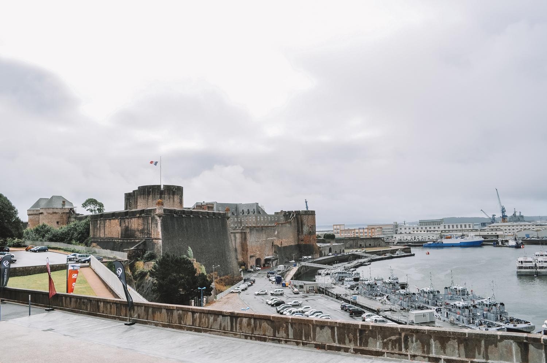 Vestiges de l'ancienne ville de Brest d'avant-guerre
