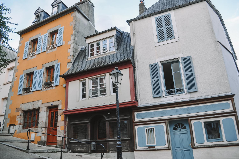 Différentes façades colorées